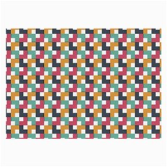 Background Abstract Geometric Large Glasses Cloth (2 Side)