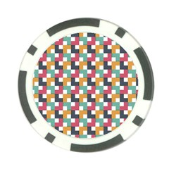 Background Abstract Geometric Poker Chip Card Guard (10 Pack)