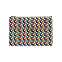 Background Abstract Geometric Cosmetic Bag (medium)