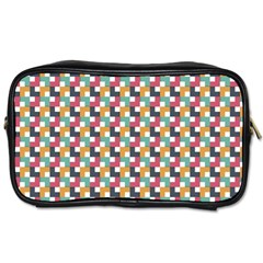 Background Abstract Geometric Toiletries Bags