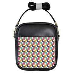 Background Abstract Geometric Girls Sling Bags