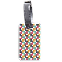 Background Abstract Geometric Luggage Tags (one Side)