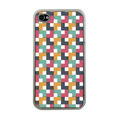 Background Abstract Geometric Apple Iphone 4 Case (clear)
