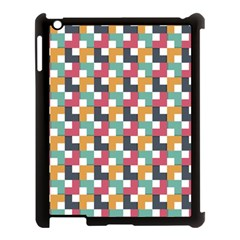 Background Abstract Geometric Apple Ipad 3/4 Case (black)