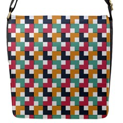 Background Abstract Geometric Flap Messenger Bag (s)