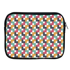 Background Abstract Geometric Apple Ipad 2/3/4 Zipper Cases
