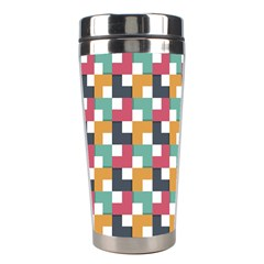 Background Abstract Geometric Stainless Steel Travel Tumblers