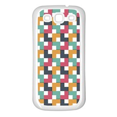 Background Abstract Geometric Samsung Galaxy S3 Back Case (white)