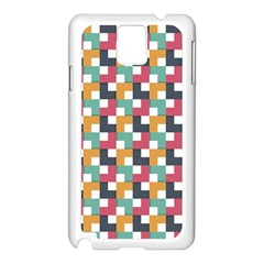 Background Abstract Geometric Samsung Galaxy Note 3 N9005 Case (white)