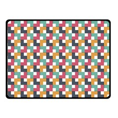Background Abstract Geometric Double Sided Fleece Blanket (small)