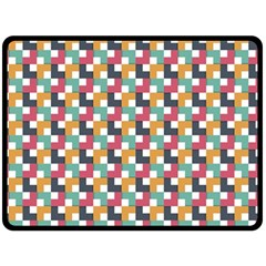 Background Abstract Geometric Double Sided Fleece Blanket (large)