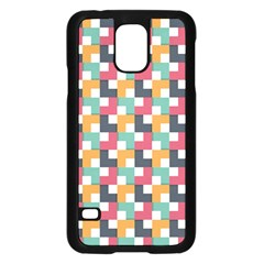 Background Abstract Geometric Samsung Galaxy S5 Case (black)