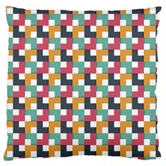 Background Abstract Geometric Standard Flano Cushion Case (one Side)