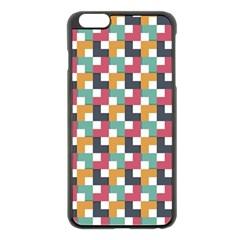 Background Abstract Geometric Apple Iphone 6 Plus/6s Plus Black Enamel Case
