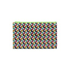 Background Abstract Geometric Cosmetic Bag (xs)