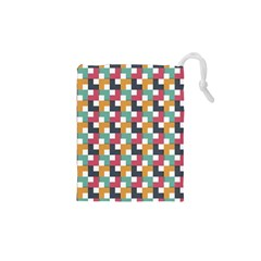 Background Abstract Geometric Drawstring Pouches (xs)