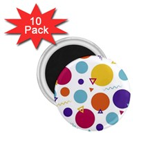 Background Polka Dot 1 75  Magnets (10 Pack)