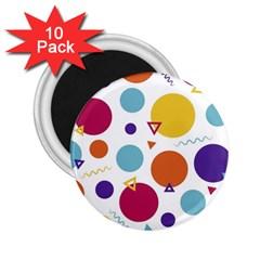 Background Polka Dot 2 25  Magnets (10 Pack)