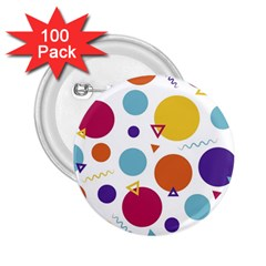Background Polka Dot 2 25  Buttons (100 Pack)
