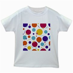 Background Polka Dot Kids White T Shirts