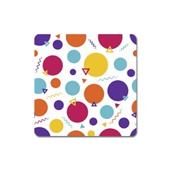 Background Polka Dot Square Magnet