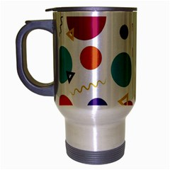 Background Polka Dot Travel Mug (silver Gray)