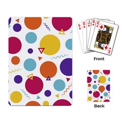 Background Polka Dot Playing Card