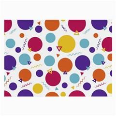 Background Polka Dot Large Glasses Cloth (2 Side)