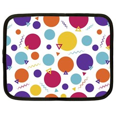 Background Polka Dot Netbook Case (large)
