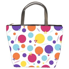 Background Polka Dot Bucket Bags