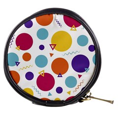 Background Polka Dot Mini Makeup Bags