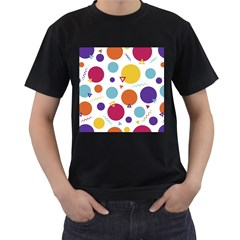 Background Polka Dot Men s T Shirt (black)