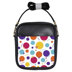 Background Polka Dot Girls Sling Bags