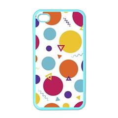 Background Polka Dot Apple Iphone 4 Case (color)