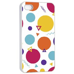 Background Polka Dot Apple Iphone 4/4s Seamless Case (white)