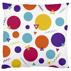 Background Polka Dot Large Cushion Case (two Sides)