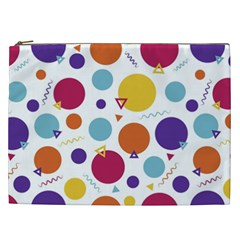 Background Polka Dot Cosmetic Bag (xxl)