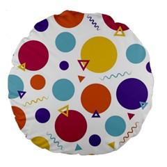 Background Polka Dot Large 18  Premium Round Cushions