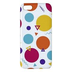 Background Polka Dot Apple Iphone 5 Premium Hardshell Case