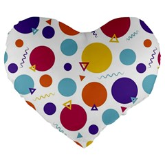 Background Polka Dot Large 19  Premium Flano Heart Shape Cushions