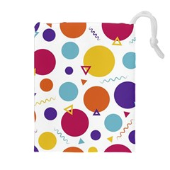 Background Polka Dot Drawstring Pouches (extra Large)
