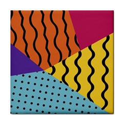 Background Abstract Memphis Tile Coasters
