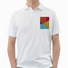 Background Abstract Memphis Golf Shirts
