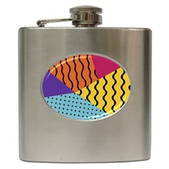 Background Abstract Memphis Hip Flask (6 Oz)
