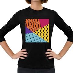Background Abstract Memphis Women s Long Sleeve Dark T Shirts