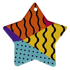 Background Abstract Memphis Star Ornament (two Sides)