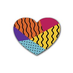 Background Abstract Memphis Heart Coaster (4 Pack)