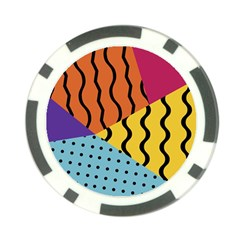 Background Abstract Memphis Poker Chip Card Guard