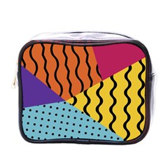 Background Abstract Memphis Mini Toiletries Bags