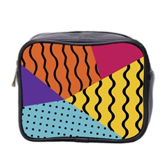Background Abstract Memphis Mini Toiletries Bag 2 Side